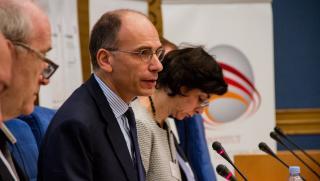 Enrico Letta, ancien président du Conseil des ministres italien, doyen de l'École des affaires internationales de Sciences-Po (PSIA)