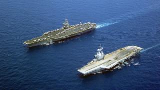 Porte-avions, France, États-Unis, militaire, exercice, bateau